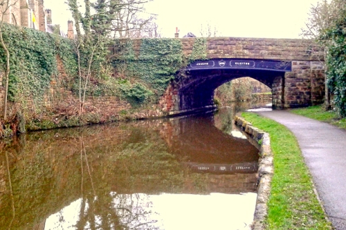 A canal bridge in Lancaster