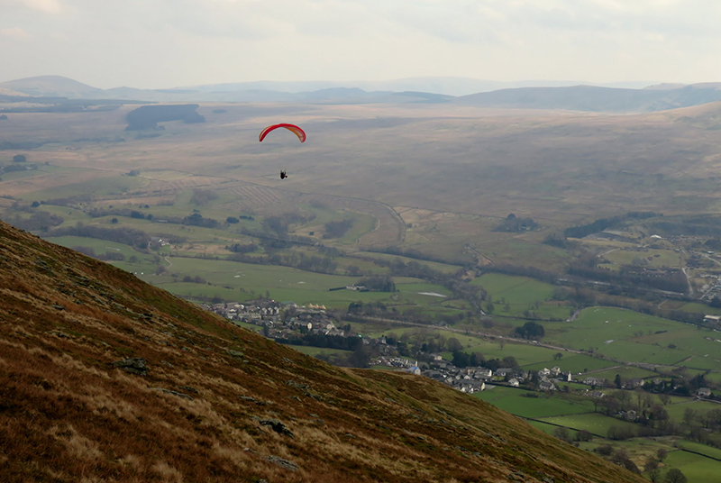 Hang glider in action