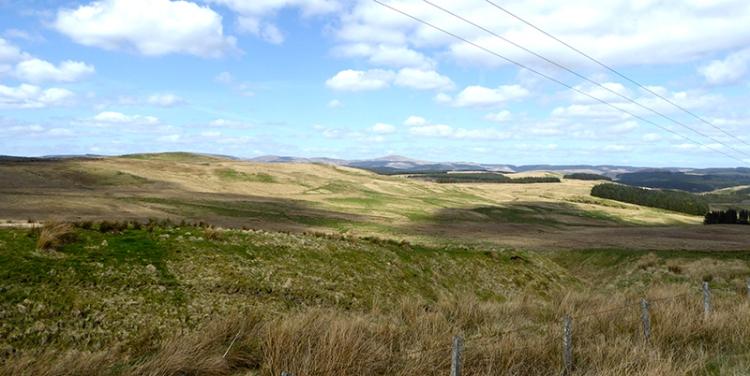 View from above Eskdalemuir