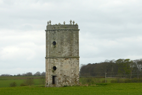 Tower in field