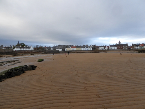 visit to beach Anstruther