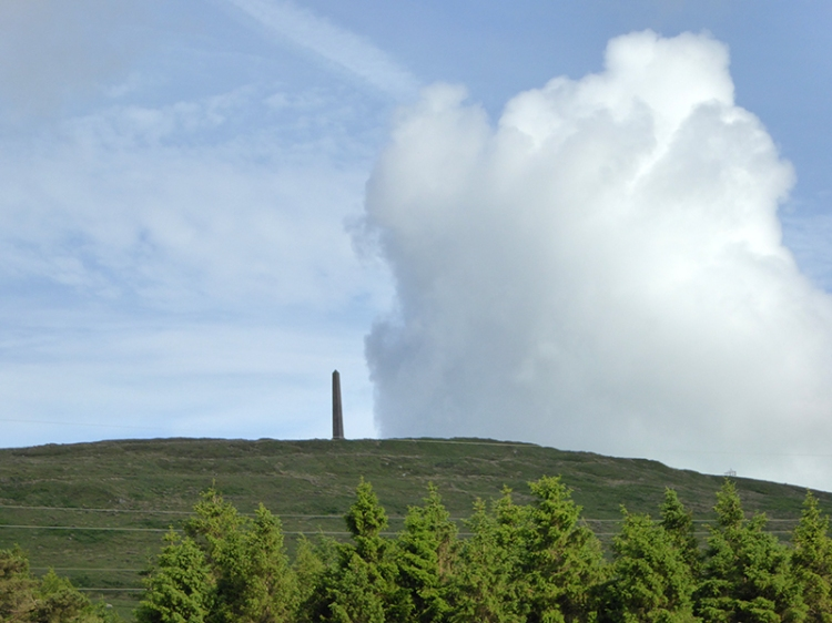 cloud over the monument