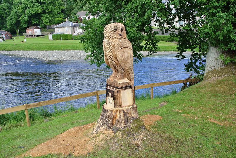 Carved owl