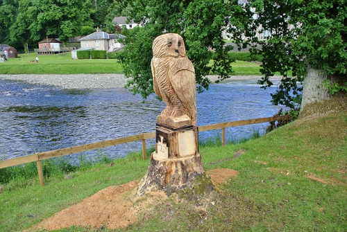 Carved owl