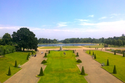 The Round Pond from Kensington Palace