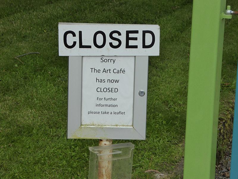 Art cafe sign