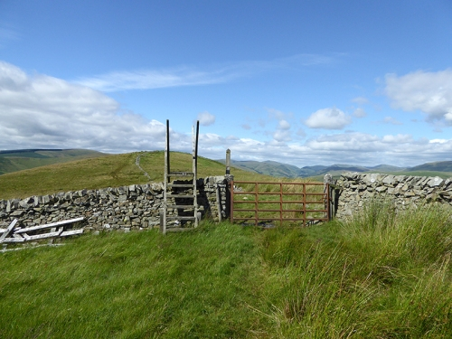 stile on Potholm Hill