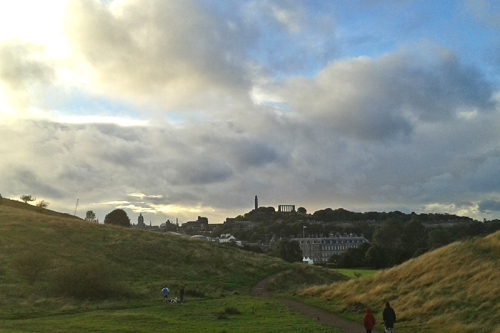 Calton Hill and Holyrood palace