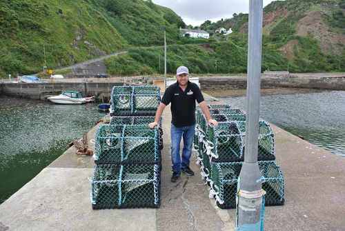 Lobster fisherman at Burnmouth