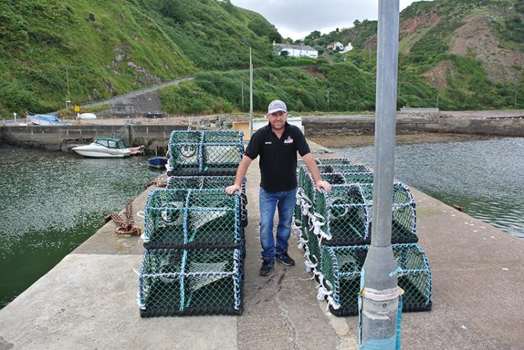 Lobster fisherman at Burnmouth