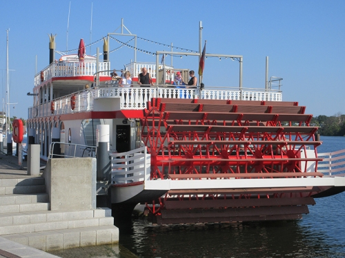 Paddle steamer in Germany