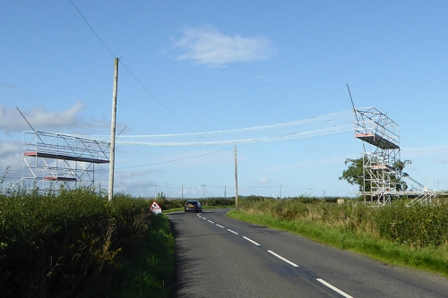 Windmill power lines