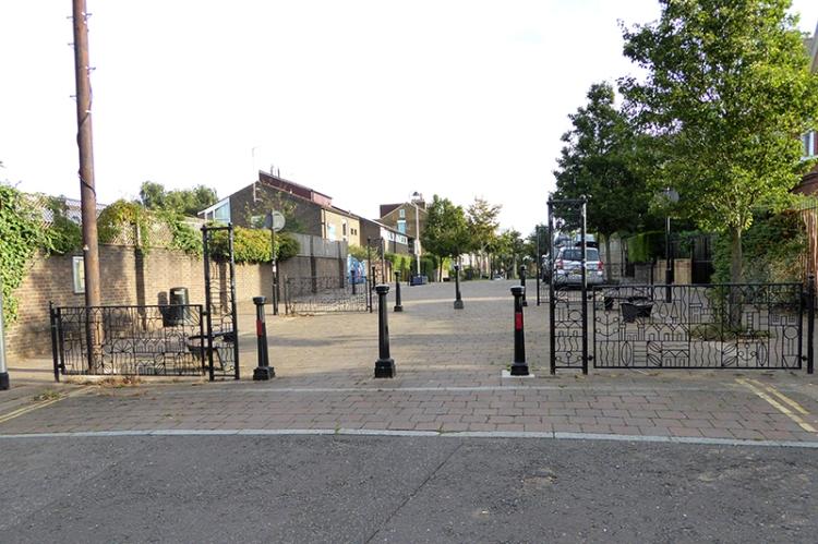 school bollards Kentish Town