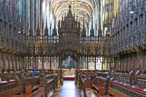 The choir at Chester cathedral