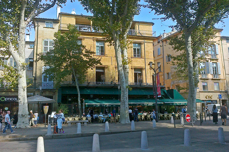 Aix-en-Provence -Cafe where Cezanne and Zola used to meet - called Les Deux Garcons