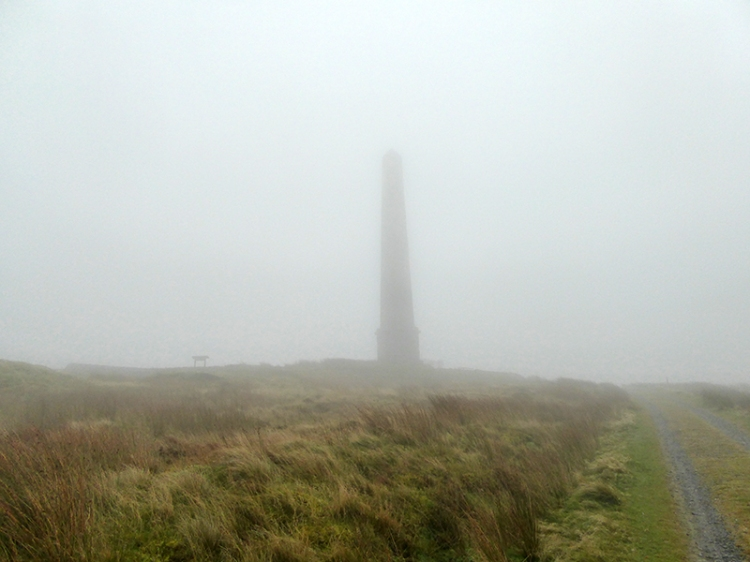 monument in mist