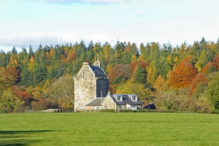 Hollows Tower in autumn