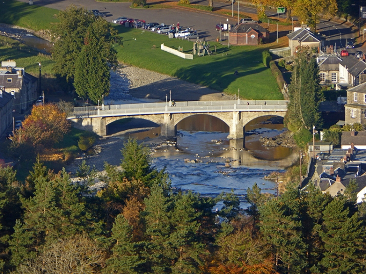 Langholm Bridge from Warbla