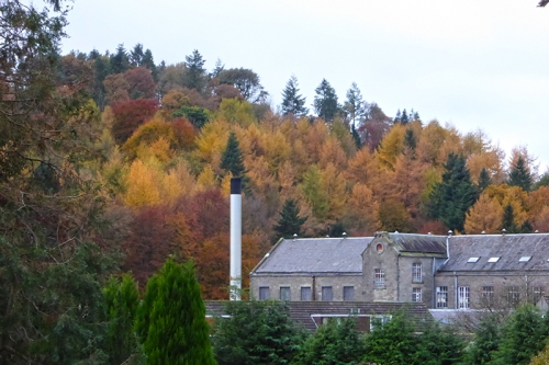 Waverley Mill in autumn