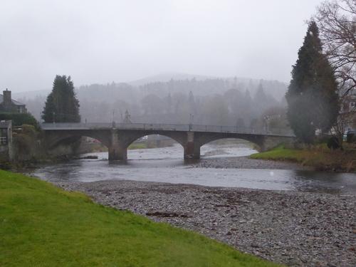 Langholm Bridge in mist