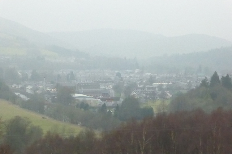 Misty view of langholm
