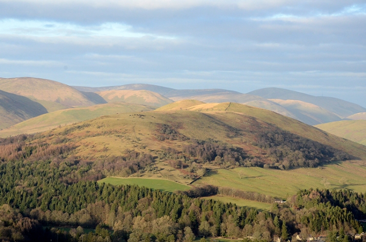 Castle Hill and Ewes valley