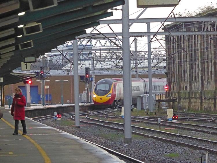 Virgin train on time at Carlisle