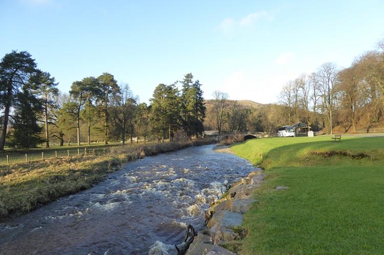 Ewes water at Kilngreen