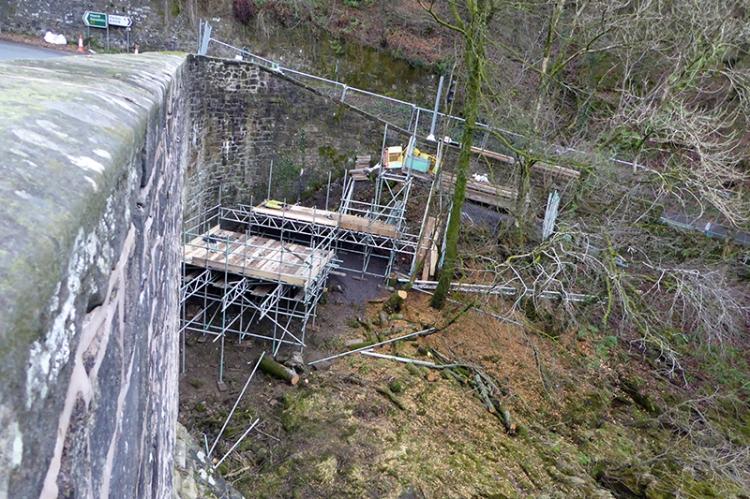 More work on the bridge at langholm.