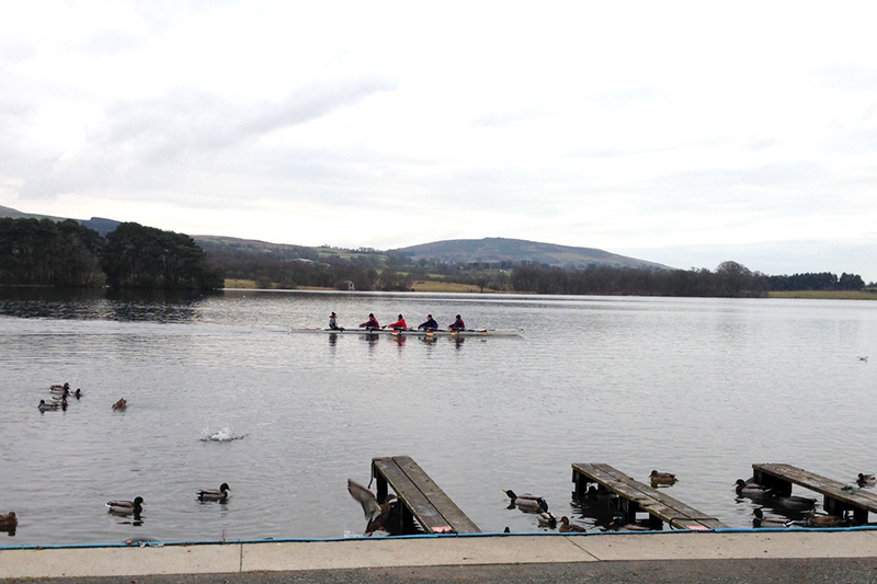 rowers on Talkin Tarn