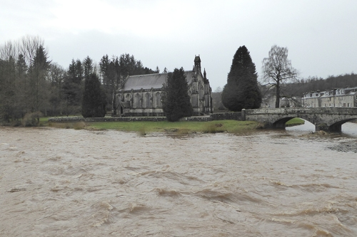River esk in flood