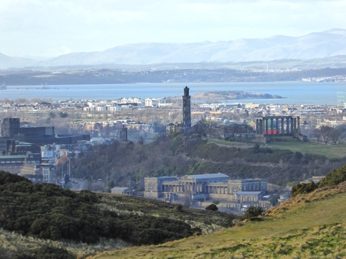 Calton Hill from Arthur's Seat