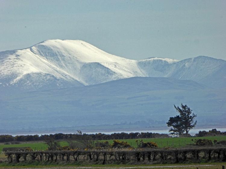 Lake District snowy hills