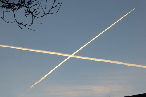 St Andrew's Cross in the sky