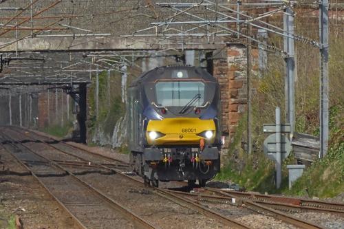 diesel loco at Lockerbie
