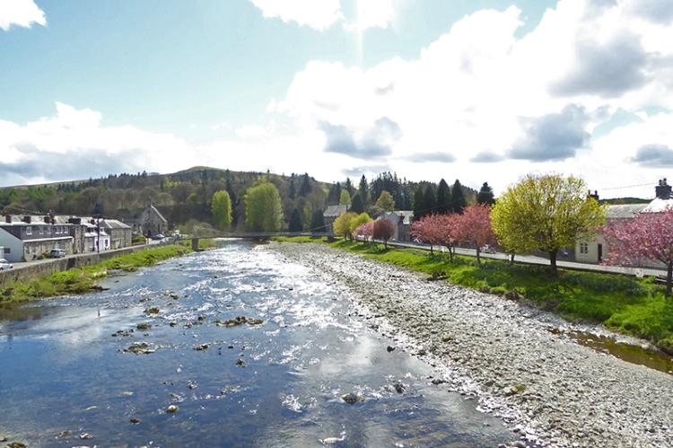 The Esk from Langholm Bridge