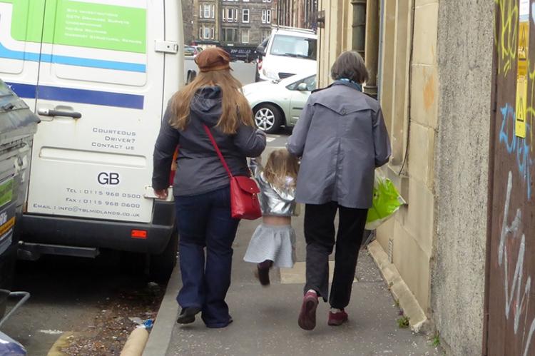 Clare, Mrs T and Matilda