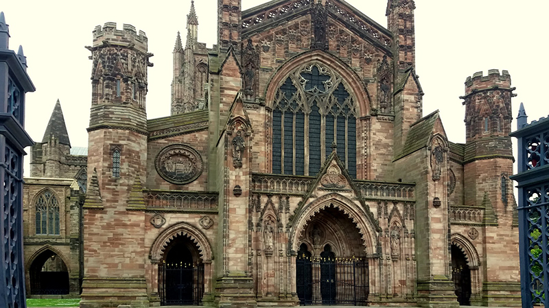 Hereford cathedral West face