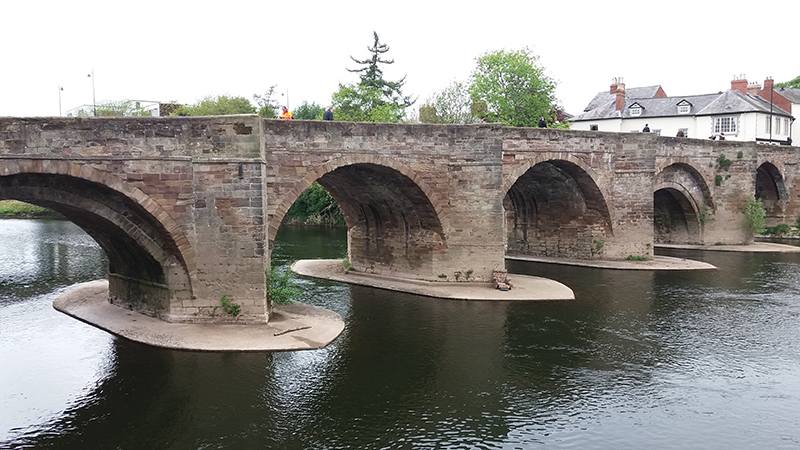 Old Bridge at Hereford across the Wye