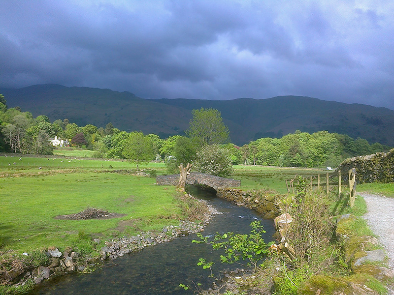 Returning to Grasmere as the sun comes out