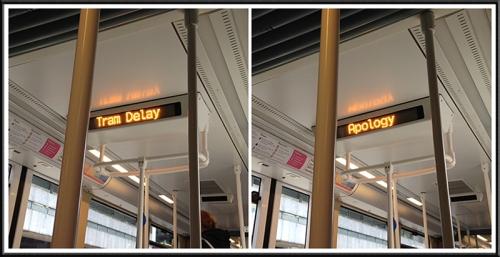 tram message