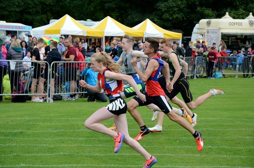 Common riding athletics finish