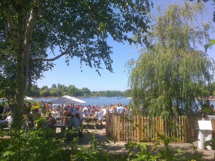 Cafe overlooking the Serpentine, Hyde Park