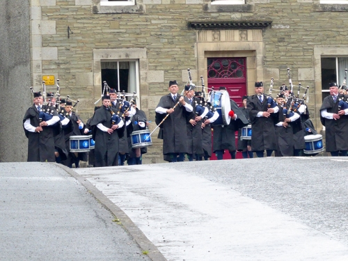 Langholm Pipe Band castle craigs