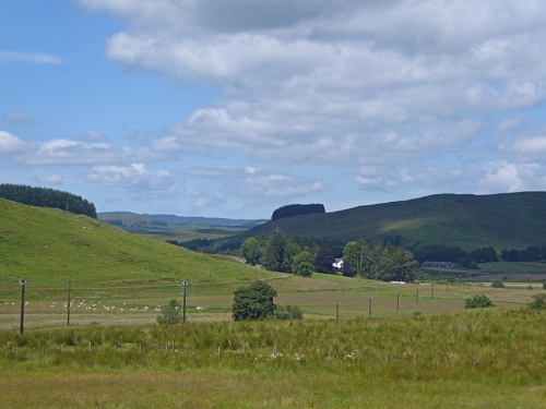 Looking back from Crurie Brae