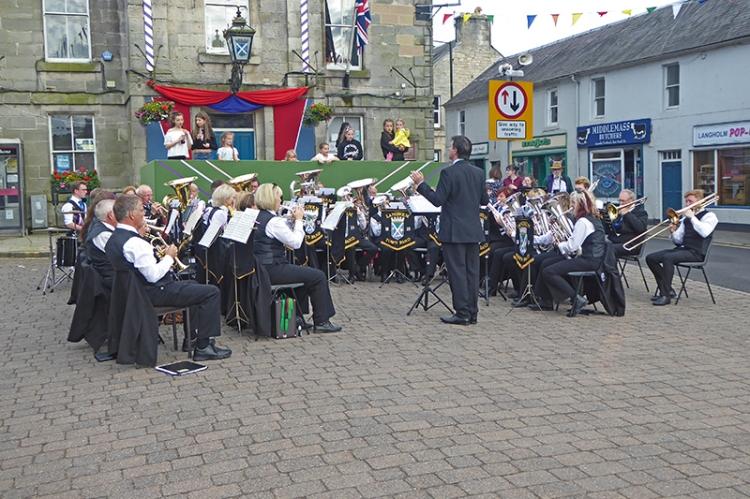Langholm Town Band summer fair 2107