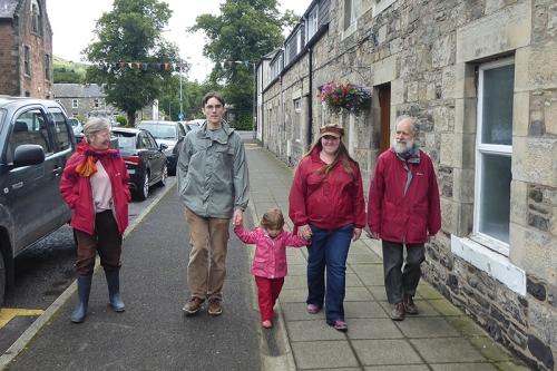 Eileen, Al, Matilda, Clare and Francis