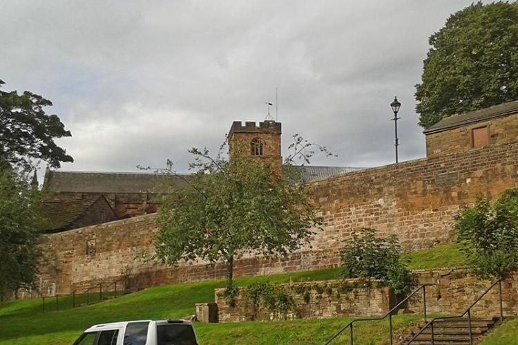 City walls and carlisle cathedral
