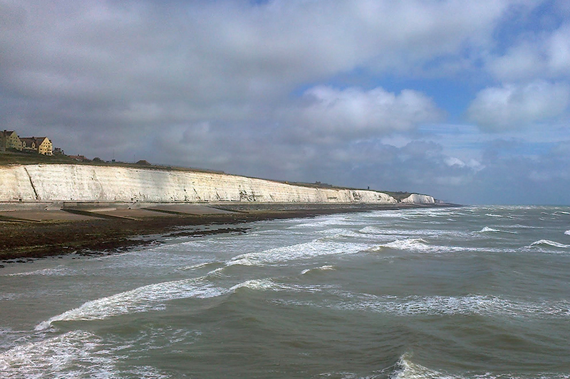 The white cliffs of Brighton