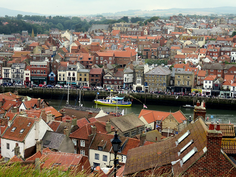 The other side of Whitby, taken from halfway down the stairs